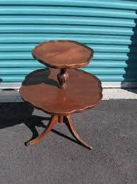 pie crust end table mersman mahogony 2 tier pie crust end table classifieds 335508