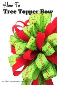 Making Bows Christmas Tree Decorations by How To Make A Bow With Multiple Ribbons Christmas Tree Bows Bow