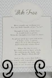 wishing tree sayings poem for wishing tree to tell guests to sign baby shower