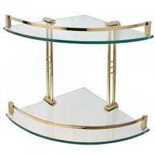 Glass Bathroom Corner Shelves Engel Tempered Glass Corner Shelf Two Shelves Bathroom