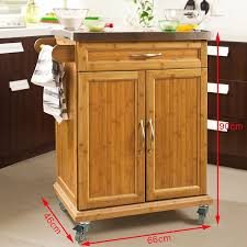Kitchen Furniture Uk Sobuy Bamboo Kitchen Cabinet Kitchen Storage Trolley Cart With