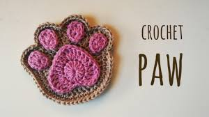 how to crochet a supercute paw print crochet printing and craft