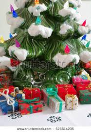 miniature christmas trees stock images royalty free images
