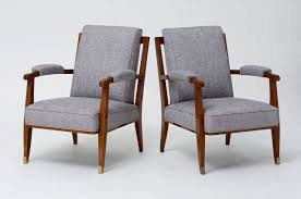 Low Armchairs Maison Leleu Pair Of Low Armchairs France 1957 For Sale At 1stdibs
