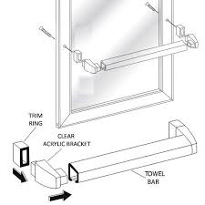 Shower Door Towel Bar Replacement Parts Framed Sliding Shower Door Chrome Towel Bar With Clear Acrylic