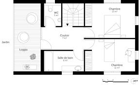 plan de maison 3 chambres salon plan maison à étage 3 chambres ooreka
