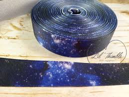 galaxy ribbon galaxy grosgrain ribbon birthday party favor sewing crafting
