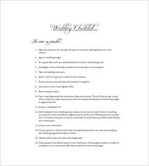 what do i need for a wedding wedding to do list 8 free sle exle format