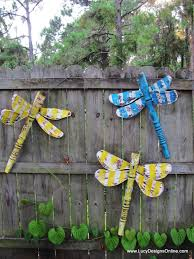 Dragonfly Garden Dragonflies Layered Paint Metal Wings And Wire Wings Lucy Designs