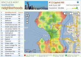 seattle map green lake announcing seattle s most walkable neighborhoods walk score