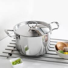 pot ustensile cuisine marmite en acier inoxydable ustensiles de cuisine avec couvercle en