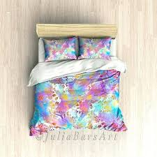 Blue And Yellow Duvet Cover Boho Bedding Bohemian Duvet Cover Blue Purple Pink Yellow