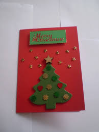 foam christmas tree card with gold stars and sequins christmas
