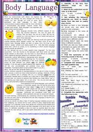19 free esl body language worksheets