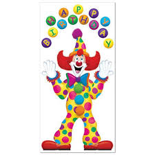 clowns for a birthday party clown happy birthday party door cover australia s 1 party supplies