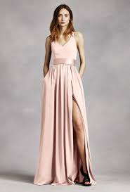 Light Pink Bridesmaid Dresses Light Pink Bridesmaid Dresses White By Vera Wang Halter Gown