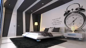 black and white guest bedroom black blue wall paint colors
