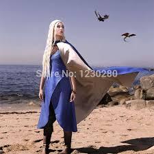 Game Thrones Halloween Costumes Khaleesi Aliexpress Buy Game Thrones Daenerys Targaryen Khaleesi