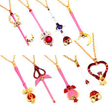 online buy wholesale gothic design style from china gothic design sailor moon wand crystal pendant necklace 9 style gothic tattoo choker necklace cosplay jewelry women accessories