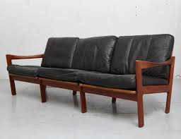Mid Century Couch by Mid Century Teak U0026 Leather Sofa By Illum Wikkelsø For Niels
