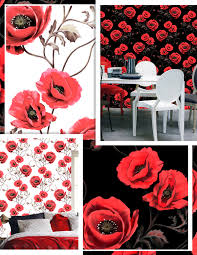 Poppy Wallpaper Home Interior Design Sweeden - Poppy wallpaper home interior