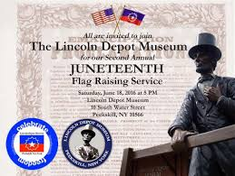 Juneteenth Flag Lincoln Depot Museum To Hold Second Annual Official Juneteenth
