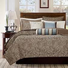 Madison Park Bedding Madison Park Aubrey Blue 6 Piece Quilted Coverlet Set Full Queen