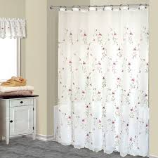 loretta pink floral embroidered shower curtain and valance sheer