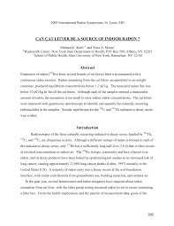 can cat litter be a source of indoor radon pdf download available