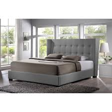Upholstered Platform Bed King Baxton Studio Favela Upholstered Platform Bed And Tufted King