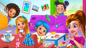 bad baby playing clean up education video for kids learn names