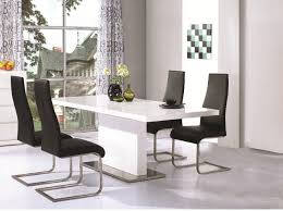 White Gloss Extendable Dining Table Surprising White Gloss Extending Dining Table And Chairs 28 About