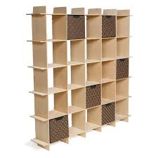 raw baltic birch 25 cubby wave mid century bookshelf by sprout kids