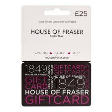 house of fraser 25 gift card at wilko com