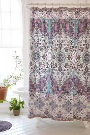 Grey Green Shower Curtain Orange Grey Green Dahlia Floral Pattern Shower Curtains Shower