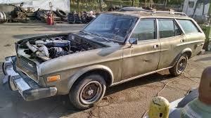 mazda wagon parked 3 decades 1974 mazda rx 4 rotary wagon