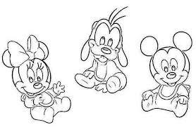 disney babies mickey goofy minnie coloring 475736