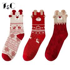new years socks aliexpress buy tc christmas socks new year gift autumn