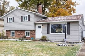 split level house modern wpc vinyl gives this split level house an updated look