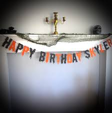 happy halloween birthday pics halloween birthday happy birthday banner scary dripping
