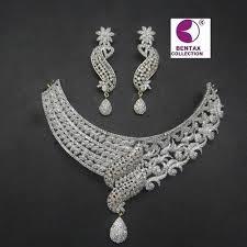 diamond necklace collection images C z diamond necklace set bhatta bazar purnia bentax jpg