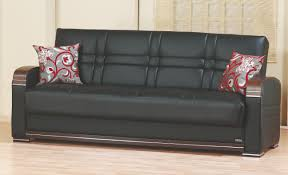 Rooms With Black Leather Sofa Bronx Black Leather Sofa Bed By Empire Furniture Usa
