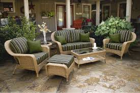 Wicker Deep Seating Patio Furniture - the lexington 6 piece all weather wicker deep seating loveseat set