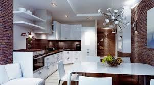 cuisine brun et blanc design interieur 25 idées conseils utiles cuisine blanche moderne