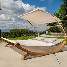 amazon com outdoor patio lounge daybed hammock w adjustable