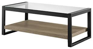 walker edison coffee table walker edison 48 urban blend coffee table with glass top pertaining