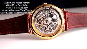 golden ferrari with diamonds audemars piguet ferrari automatic 18k yellow gold youtube