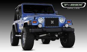 all black jeep t rex jeep wrangler x metal series studded grille t rex