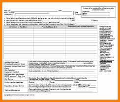 job safety analysis template dokumen sistem manajemen paket