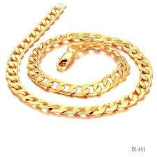 gold necklace collection images Fate love new collection men classial style gold color necklace jpg